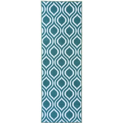 Rose Ocean Green Area Rug Rug Size: Runner 23 x 7