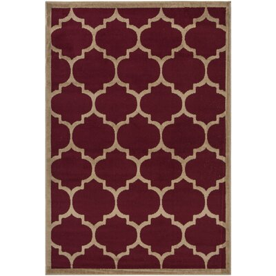 Homesense Dark Red Area Rug Rug Size: 5 x 7