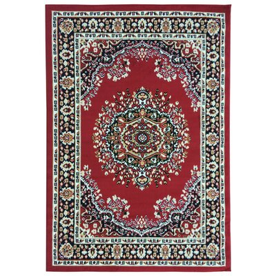 Homesense Dark Red Area Rug Rug Size: 710 x 910