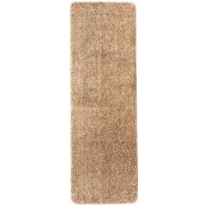 Loft Solid Beige Area Rug Rug Size: Runner 18 x 411