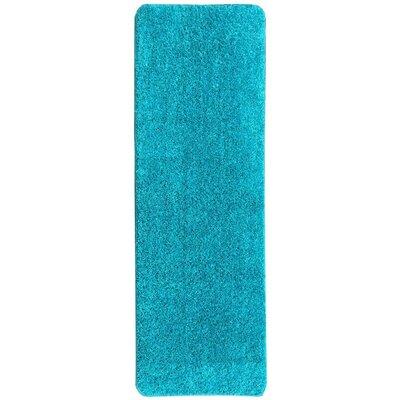 Loft Solid Blue Area Rug Rug Size: Runner 23 x 6
