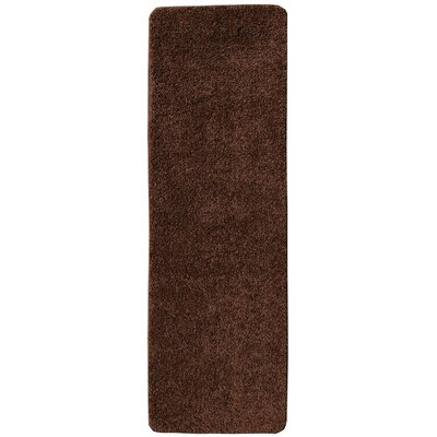 Loft Solid Brown Area Rug Rug Size: Runner 23 x 6