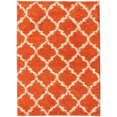 Orange Area Rug Rug Size: 33 x 47
