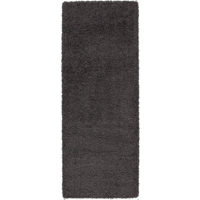 Charcoal Gray Area Rug Rug Size: 67 x 93