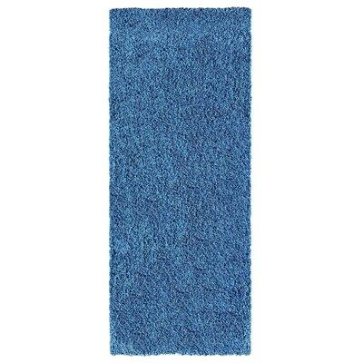 Navy Blue Area Rug Rug Size: Runner 27 x 8