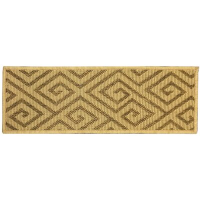 Summer Geometric Beige Stair Tread Quantity: Set of 14