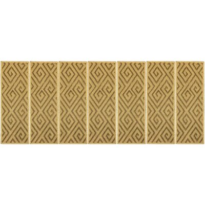 Summer Geometric Beige Stair Tread Quantity: Set of 7