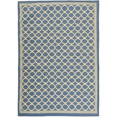 Summer Blue Indoor/Outdoor Area Rug Rug Size: 53 x 73