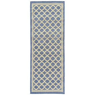 Summer Blue Indoor/Outdoor Area Rug Rug Size: Runner 27 x 7