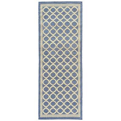 Summer Blue Indoor/Outdoor Area Rug Rug Size: Runner 27 x 7