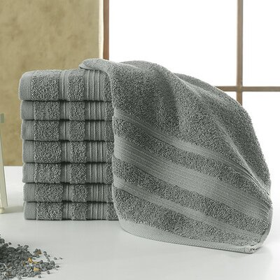 Solomon Luxury Wash Cloth Color: Gray