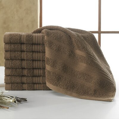 Solomon Luxury Wash Cloth Color: Brown