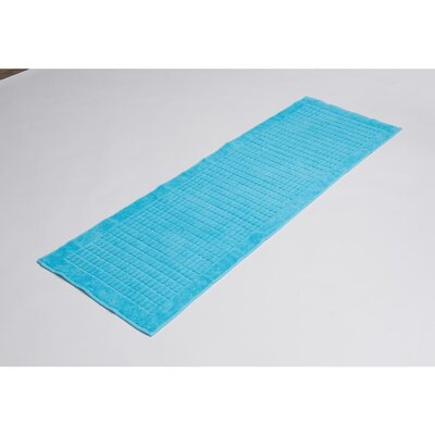 Solomon 100% Cotton Bath Rug Color: Aqua