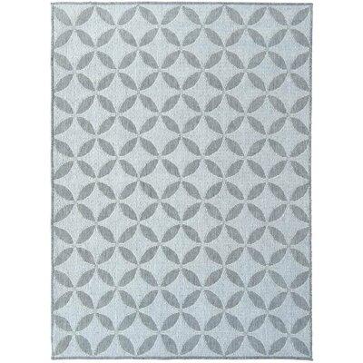 Summer Geometric Star Natural Gray Indoor/Outdoor Area Rug Rug Size: Runner 27 x 7