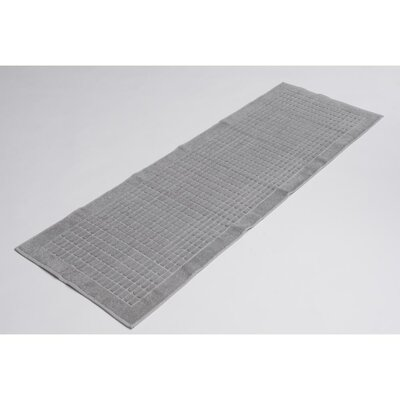 Solomon 100% Cotton Bath Rug Color: Gray