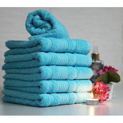 Solomon 100% Cotton Luxury Hotel and Spa Bordered Hand Towel