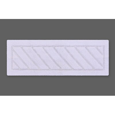 Ruby Super-Soft Hand-Tufted Natural Cotton Bath Rug Color: White