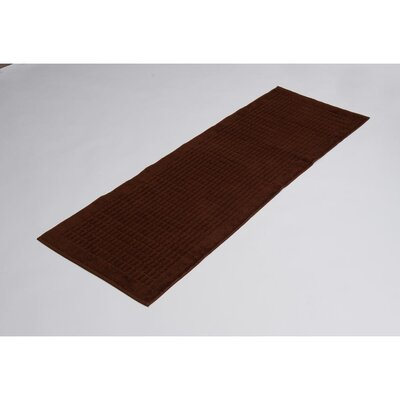 Solomon 100% Cotton Bath Rug Color: Brown