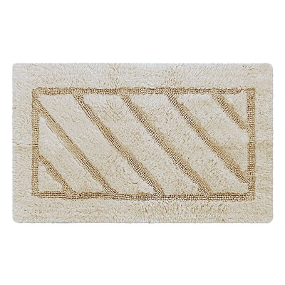 Ruby Super-Soft Hand-Tufted Natural Cotton Bath Rug Color: Beige