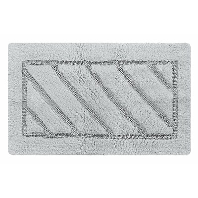 Ruby Super-Soft Hand-Tufted Natural Cotton Bath Rug Color: Gray