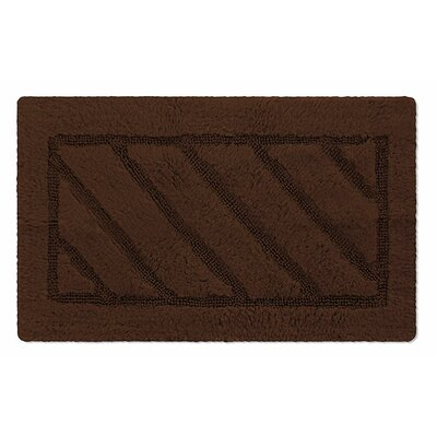 Ruby Super-Soft Hand-Tufted Natural Cotton Bath Rug Color: Brown