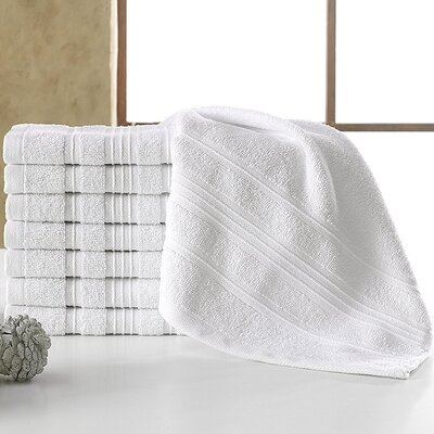 Solomon 100% Cotton Luxury Hotel and Spa Washcloth Color: White