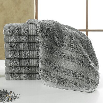 Solomon 100% Cotton Luxury Hotel and Spa Washcloth Color: Gray