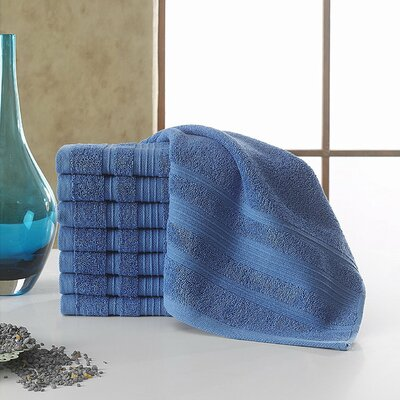 Solomon 100% Cotton Luxury Hotel and Spa Washcloth Color: Blue