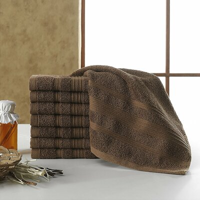 Solomon 100% Cotton Luxury Hotel and Spa Washcloth Color: Brown