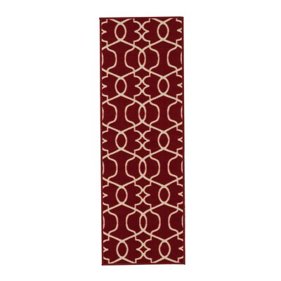 Rose Red Area Rug Rug Size: Runner 18 x 411