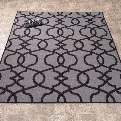 Rose Dark Gray Area Rug Rug Size: 33 x 47