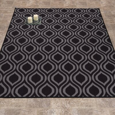Rose Dark Gray Area Rug Rug Size: 5 x 66