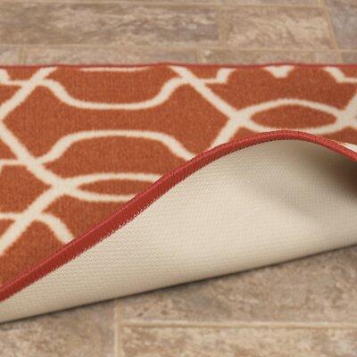 Rose Orange Area Rug Rug Size: 3