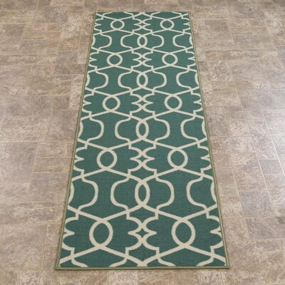 Rose Blue Area Rug Rug Size: Runner 23 x 7