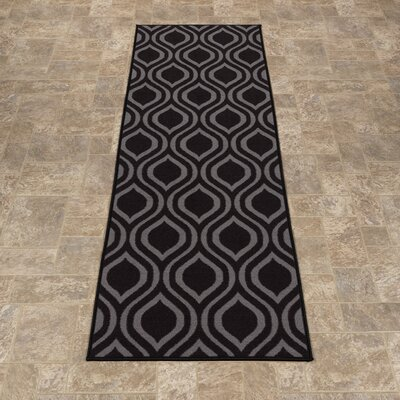 Rose Dark Gray Area Rug Rug Size: Runner 18 x 411