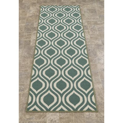 Rose Ocean Green Area Rug Rug Size: Runner 18 x 411