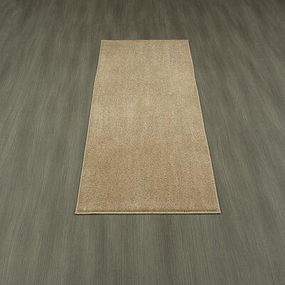 Loft Solid Beige Area Rug Rug Size: Runner 23 x 6