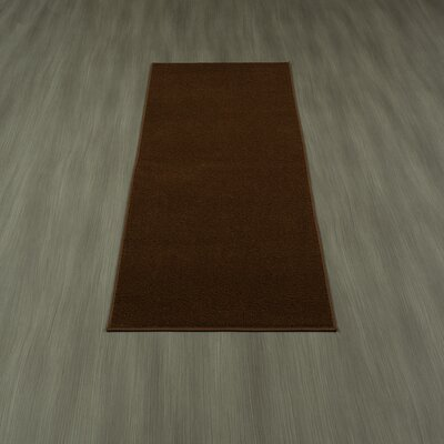 Loft Solid Brown Area Rug Rug Size: Runner 18 x 411
