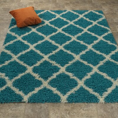 Blue Area Rug Rug Size: 67 x 93