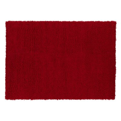 Red Area Rug Rug Size: 33 x 47
