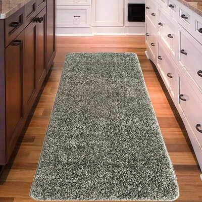 Loft Solid Gray Area Rug Rug Size: Runner 18 x 411