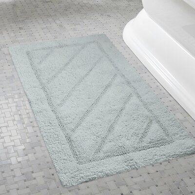 Ruby Super-Soft Hand-Tufted Natural Cotton Bath Rugs Color: Gray