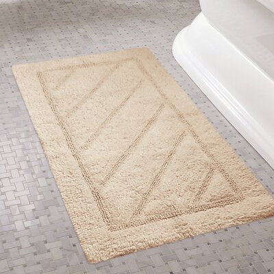 Ruby Super-Soft Hand-Tufted Natural Cotton Bath Rugs Color: Beige