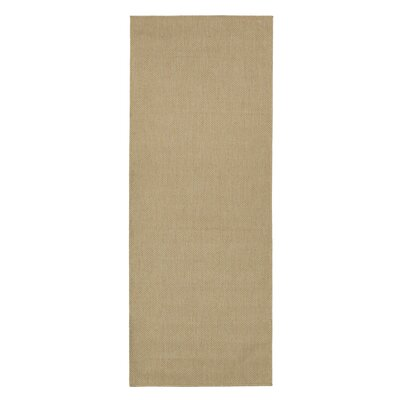 Summer Beige Indoor/Outdoor Area Rug Rug Size: Runner 27 x 7