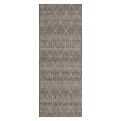 Goodhue Contemporary Trellis Design Gray Outdoor/Indoor Area Rug Rug Size: Runner 27 x 7