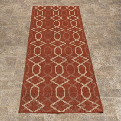 Summer Orange Indoor/Outdoor Area Rug Rug Size: Runner 27 x 7