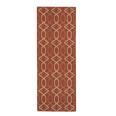 Hooper Terracotta Indoor/Outdoor Area Rug Rug Size: Runner 27 x 7