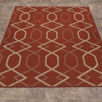 Summer Orange Indoor/Outdoor Area Rug Rug Size: 53 x 73