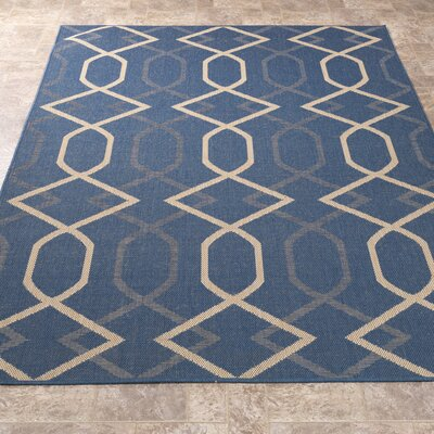 Summer Blue Indoor/Outdoor Area Rug Rug Size: 53 x 73