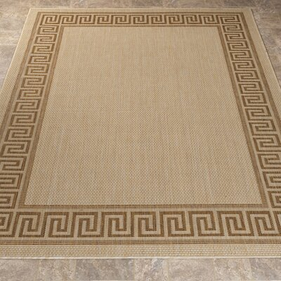 Summer Beige Indoor/Outdoor Area Rug Rug Size: 53 x 73